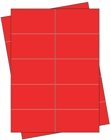 Etikett, Handbeschriftung, selbstklebend, permanent, 68 x 35 mm, rot