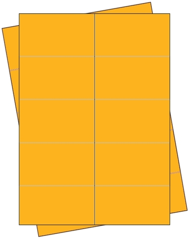 Etikett, Handbeschriftung, selbstklebend, permanent, 68 x 35 mm, gelb