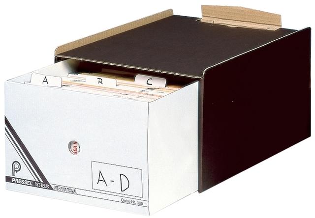 Schubladenbox, mit 1 Schublade, A5, dunkelbraun/weiß