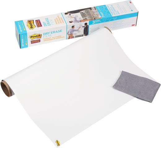 Schreibfolie Super Sticky Dry Erase, 609 mm x 0,914 m, weiß