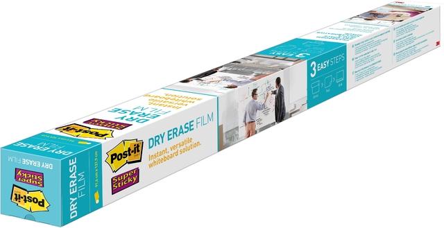 Schreibfolie Super Sticky Dry Erase, 914 mm x 1,219 m, weiß
