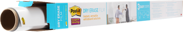 Schreibfolie Super Sticky Dry Erase, 1.219 mm x 1,829 m, weiß