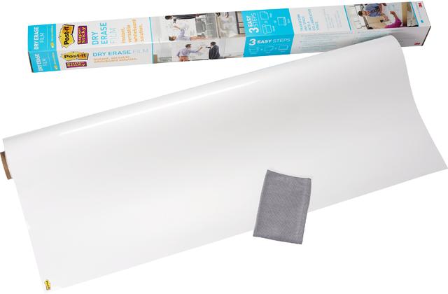 Schreibfolie Super Sticky Dry Erase, 1.219 mm x 2,438 m, weiß