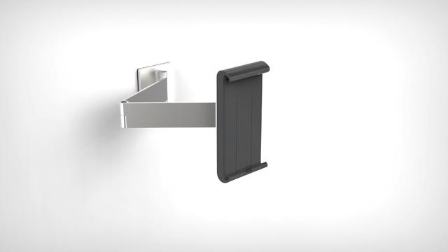 Tablet-Halter, Wand, für Geräte bis: 17,78 - 33,02 cm, 6 - 46°, silber