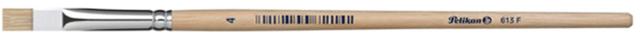 Pinsel Sorte 613F, Größe 4, Schweineborsten, Holzstiel, Schaft: natur