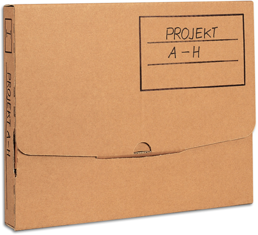 Pressel Archivbox Wellpappe 7,5x26x32cm 75 mm Steckverschluss grau