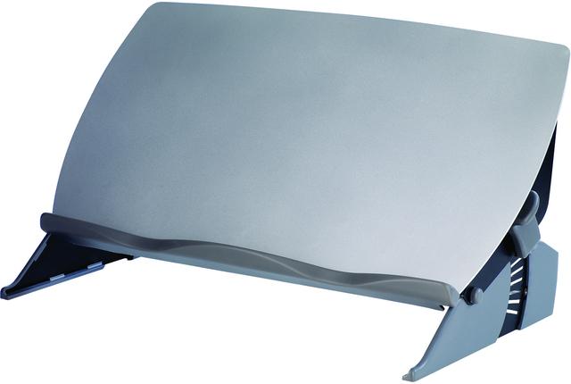 Konzepthalter, zum Aufstellen, 56,2 x 11,6 cm, schwarz/grau