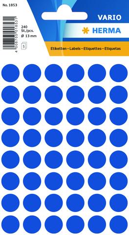 Markierungspunkt, Handbeschriftung, sk, Ø: 13 mm, dunkelblau