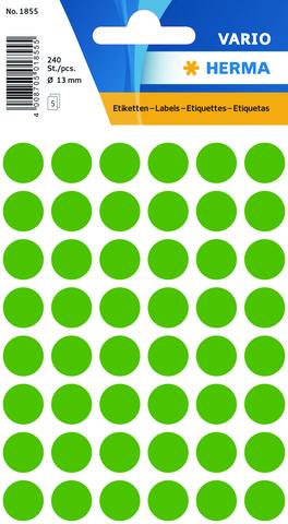 Markierungspunkt, Handbeschriftung, sk, Ø: 13 mm, dunkelgrün