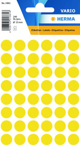 Markierungspunkt, Handbeschriftung, sk, Ø: 13 mm, gelb