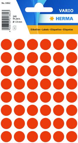 Markierungspunkt, Handbeschriftung, sk, Ø: 13 mm, rot