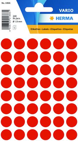 Markierungspunkt, Handbeschriftung, sk, Ø: 13 mm, leuchtrot