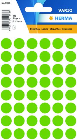 Markierungspunkt, Handbeschriftung, sk, Ø: 13 mm, leuchtgrün