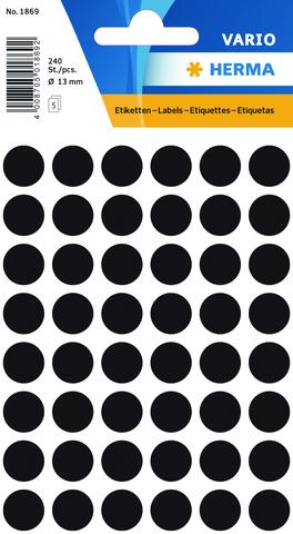 Markierungspunkt, Handbeschriftung, sk, Ø: 13 mm, schwarz