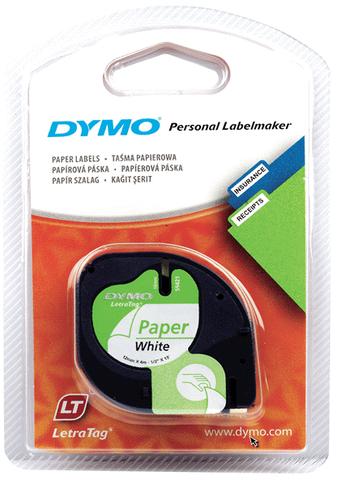 Schriftbandkassette, LetraTAG, Papier, 12 mm x 4 m, weiß