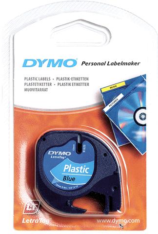 Schriftbandkassette, LetraTAG, Kunststoff, 12 mm x 4 m, blau