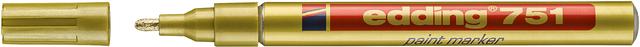 Lackmarker, 751, Rundspitze, 1 - 2 mm, Schreibf.: gold