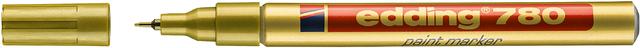 Lackmarker, 780, Einweg, Rundspitze, 0,8mm, Schreibf.: gold