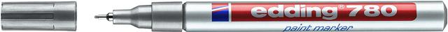 Lackmarker, 780, Einweg, Rundspitze, 0,8mm, Schreibf.: silber