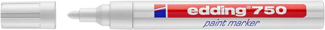 Lackmarker, 750, Rundspitze, 2 - 4 mm, Schreibf.: weiß
