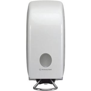 Seifenspender, für 1 l Waschlot ... Kunststoff, abschließbar, weiß