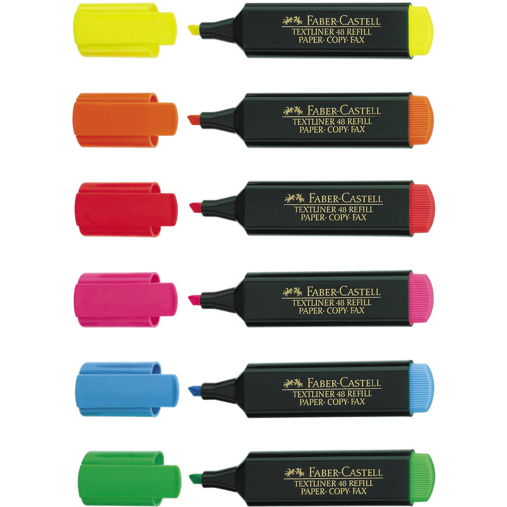 Textmarker 48 REF., Ksp., 1-5mm, Schreibf.: 6er sortiert - Textmarker 48 REF., Ksp., 1-5mm, Schreibf.: 6er sortiert
