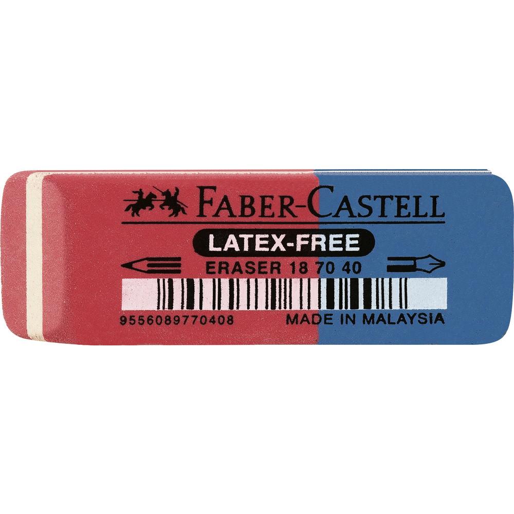 Radierer 187040, für: Blei-/Farbstifte/Tinte, 56 x 20 x 7 mm, rot/blau - Radierer 187040, für: Blei-/Farbstifte/Tinte, 56 x 20 x 7 mm, rot/blau